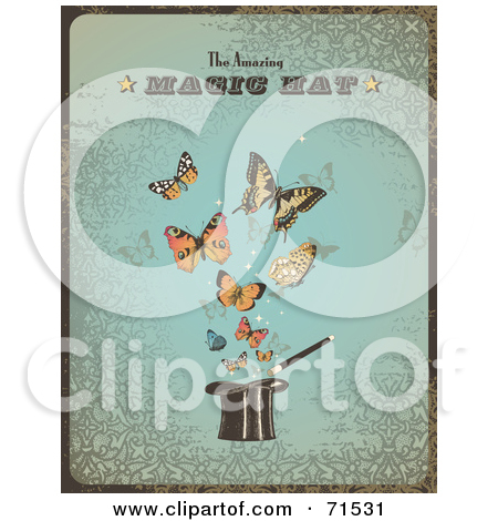 Royalty Free  Rf  Clipart Illustration Of Magic Show Text And Stars