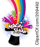 Royalty Free  Rf  Magic Show Clipart Illustrations Vector Graphics
