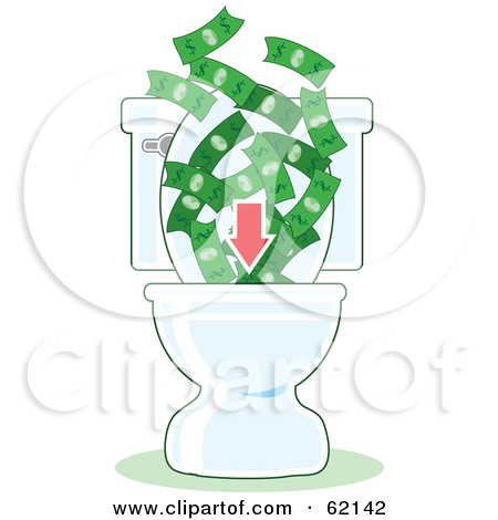 Royalty Free  Rf  Wasting Money Clipart Illustrations Vector