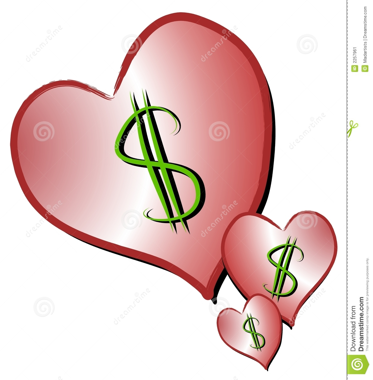 Signs Representing Dating Love For Sale Money Romance Etc