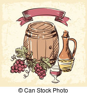 Wine Making Illustrations And Clipart