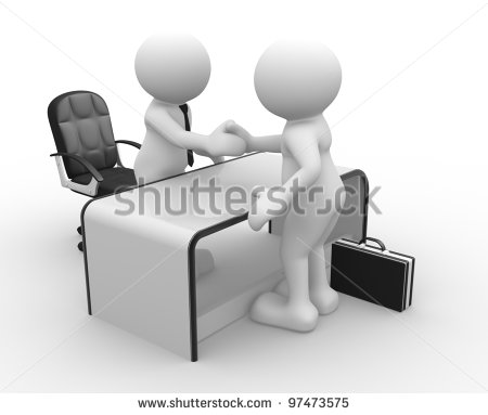 3d People   Men Person In An Office  Businessmen Who Shake Hands