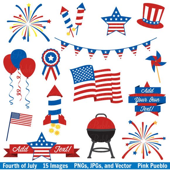 4th Of July Illustration Fourth Of July Clipart And