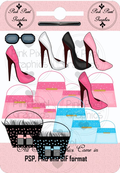 Buy 1 Get 1 Free Hollywood Boutique Purses Shoes Sunglasses Clip Art
