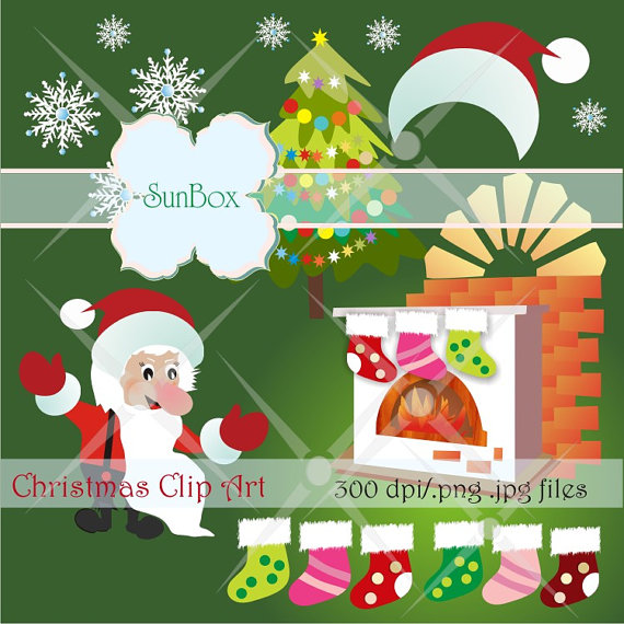 Christmas Clipart Fireplace Stockings Clipart Images For Cards