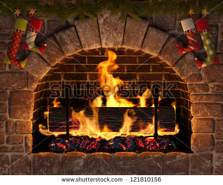 Christmas Stockings Fireplace Clipart Christmas Fireplace