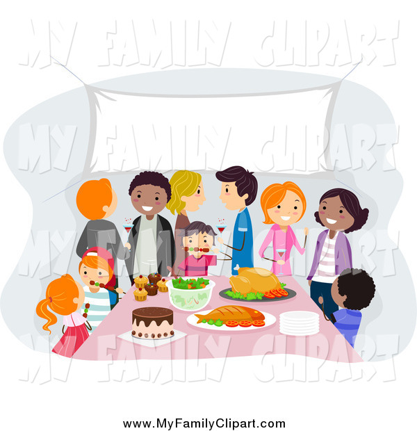 Clip Art Of A Family And Friends Gathering By Bnp Design Studio