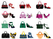 Clip Art Of Female Bag Purse And Shoes K8266748   Search Clipart