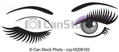 Eps Vectors Of Winking   Vector Winking Eyes Csp16206193   Search Clip