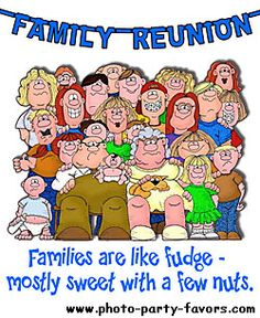 Family Reunion Cartoon With Caption   Families Are Like Fudge  Mostly