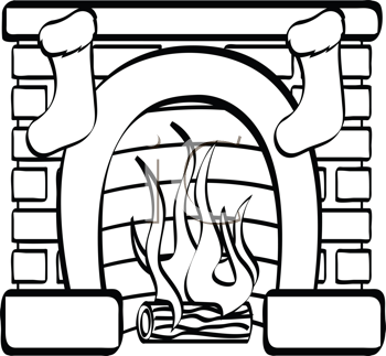 Fireplace Clipart Fireplace Bw Tnb Png
