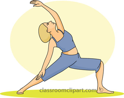 Fitness And Exercise   Yoga Standing Pose 01 212   Classroom Clipart