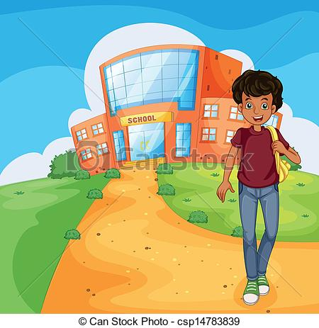 Going Home From School Clipart A Man Going Home From School