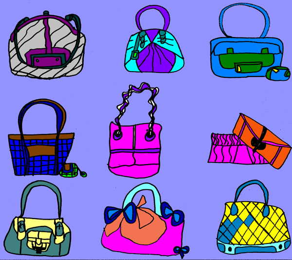 Handbags And Shoes Clipart All Of The Purses Ive Own