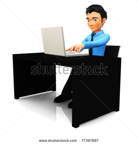 On A Laptop Computer At The Office Stock Photo 77397667   Shutterstock