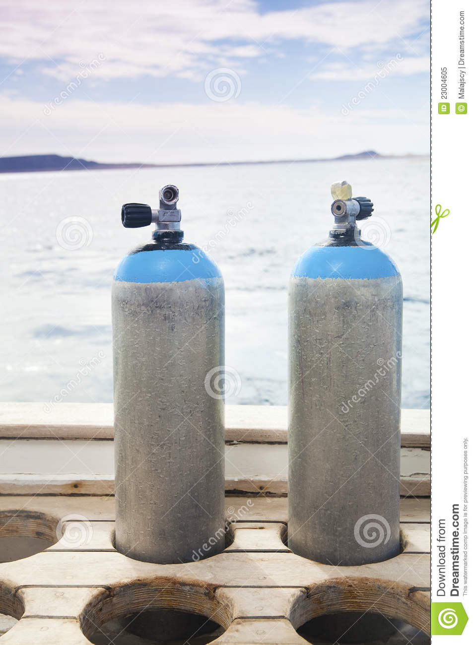 Scuba Diving Tanks Royalty Free Stock Photo   Image  23004605