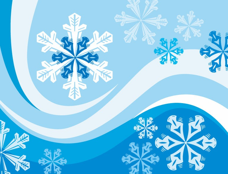 Snowflakes Winter Background Vector   Free Vector Graphics   All Free
