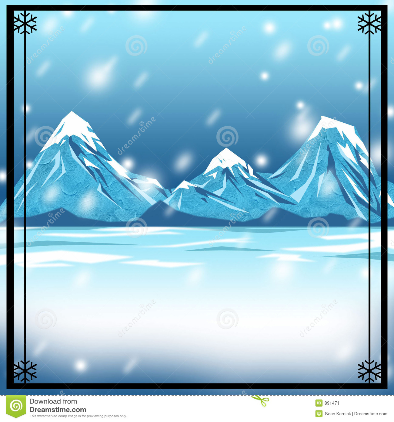 Snowy Winter Backdrop Background Stock Image   Image  891471