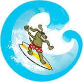 Surfboard Illustrations And Clipart  1097 Surfboard Royalty Free