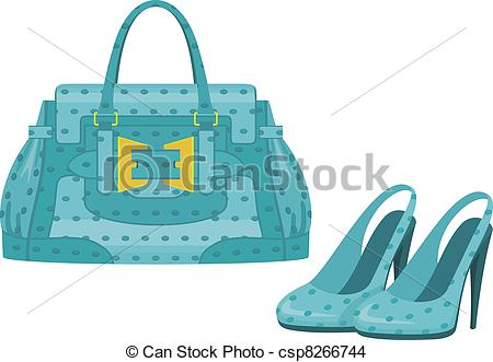 Vector   Female Bag And Shoes   Stock Illustration Royalty Free