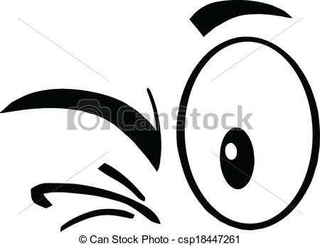 Winking Eyes   Black And White Winking    Csp18447261   Search Clipart