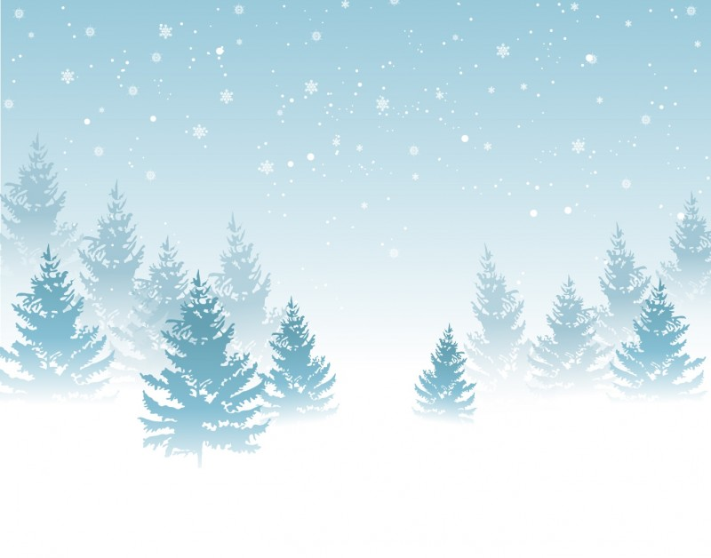 Winter Background Vector Backgroun