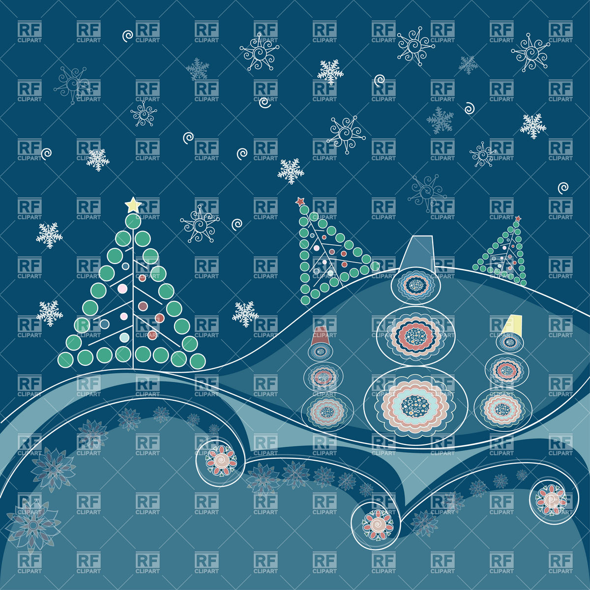 Winter Background With Snowflakes Holiday Download Royalty Free