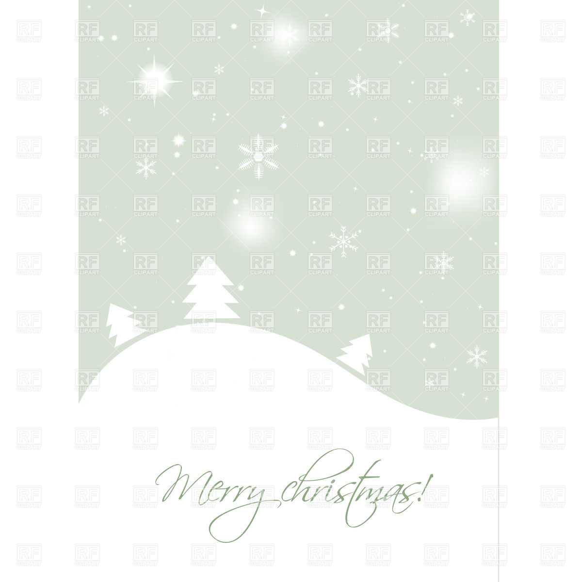 Winter Background   Xmas Tree And Snowflakes 23194 Holiday Download