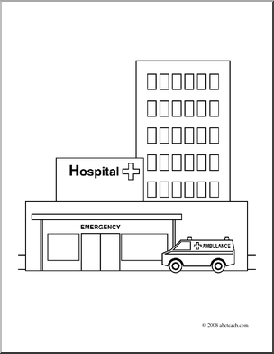 coloring pages hospital themed - photo#33