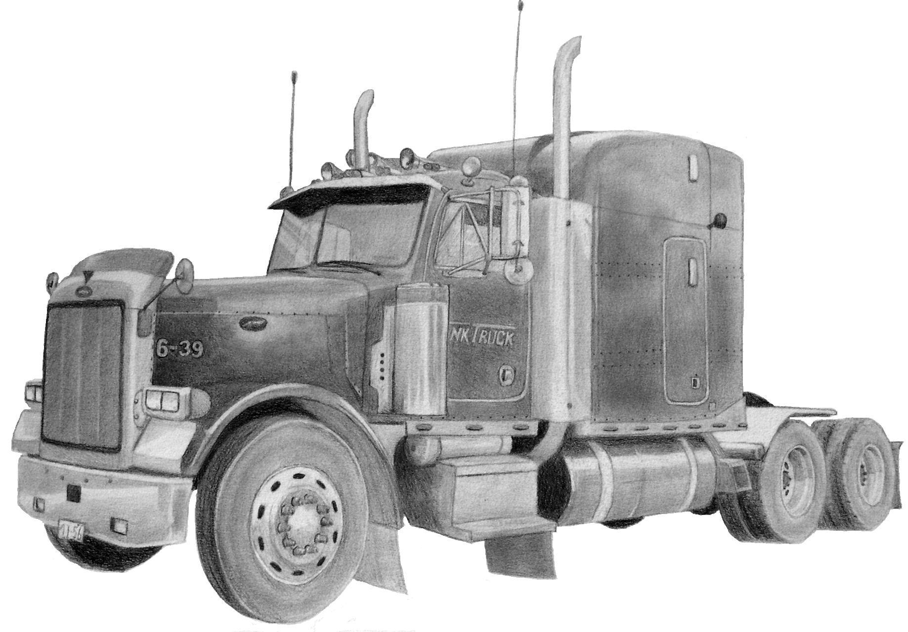 Peterbilt 379 Truck Clipart - Clipart Suggest