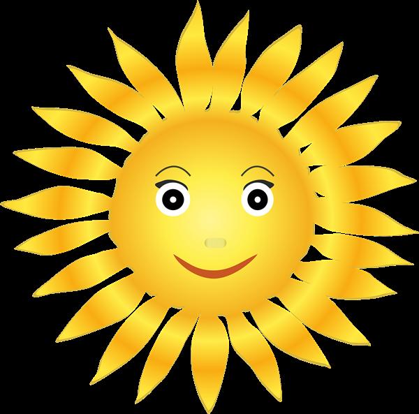 Clip Art Smiling Sun Clipart - Clipart Kid