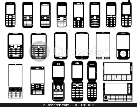Nothing Found For Cell Phone Clipart Black And White