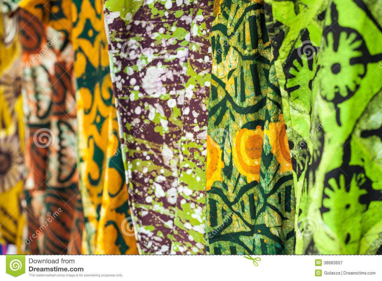 African Fabrics From Ghana West Africa Royalty Free Stock Photography