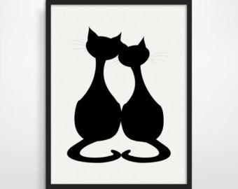 Black Cat Silhouette Sitting Clip Art