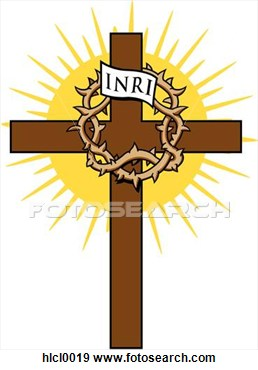 Clip Art Cross With Crown Of Thorns Fotosearch Search Clipart ...