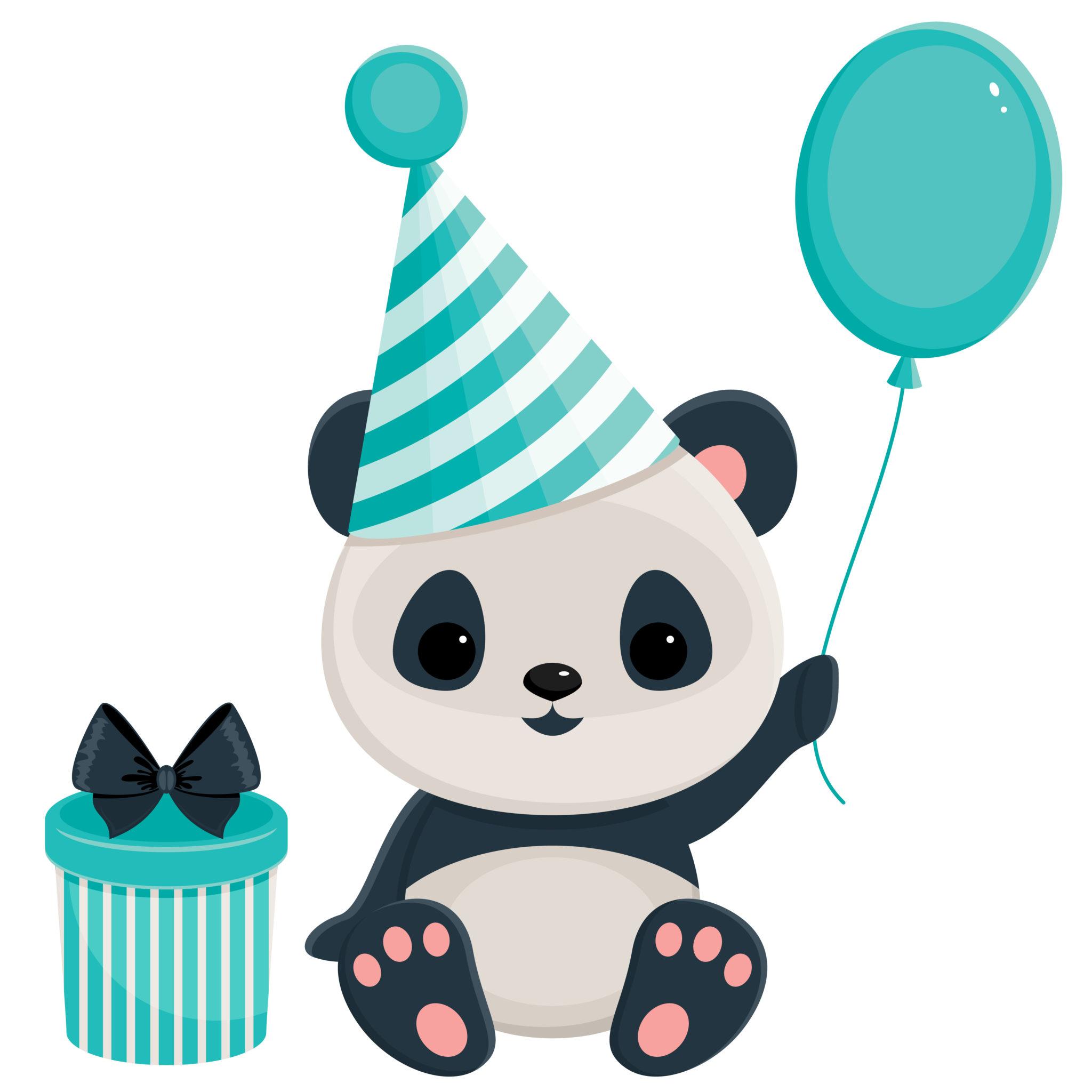 Panda Birthday Clipart - Clipart Kid