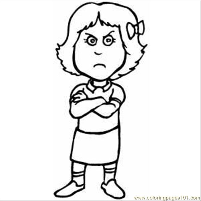 Line Drawing Angry Face : Girls mad face outline clipart suggest
