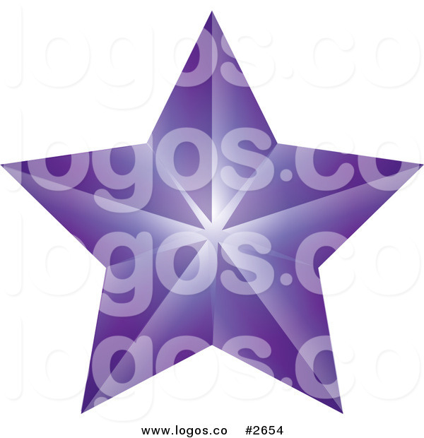 Purple Shooting Stars Clipart Royalty Free Purple Star Logo