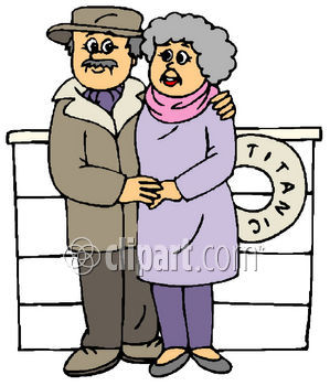 Senior Citizens Having Fun Titanic Woman Old Couple Clipart