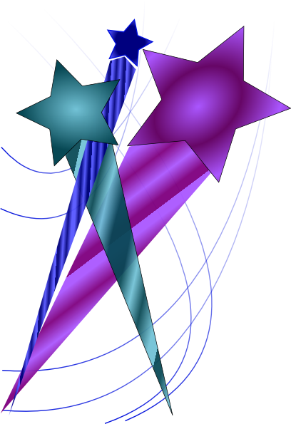 Shooting Stars Clip Art At Clker Com   Vector Clip Art Online Royalty