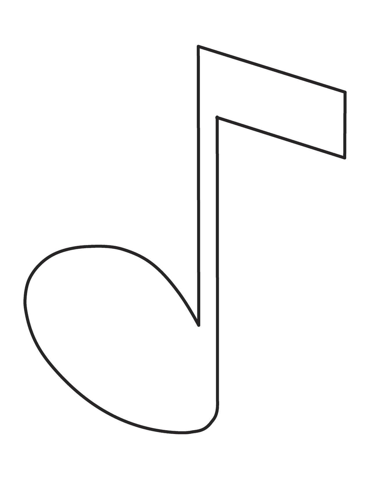 Single Music Note Clipart - Clipart Kid