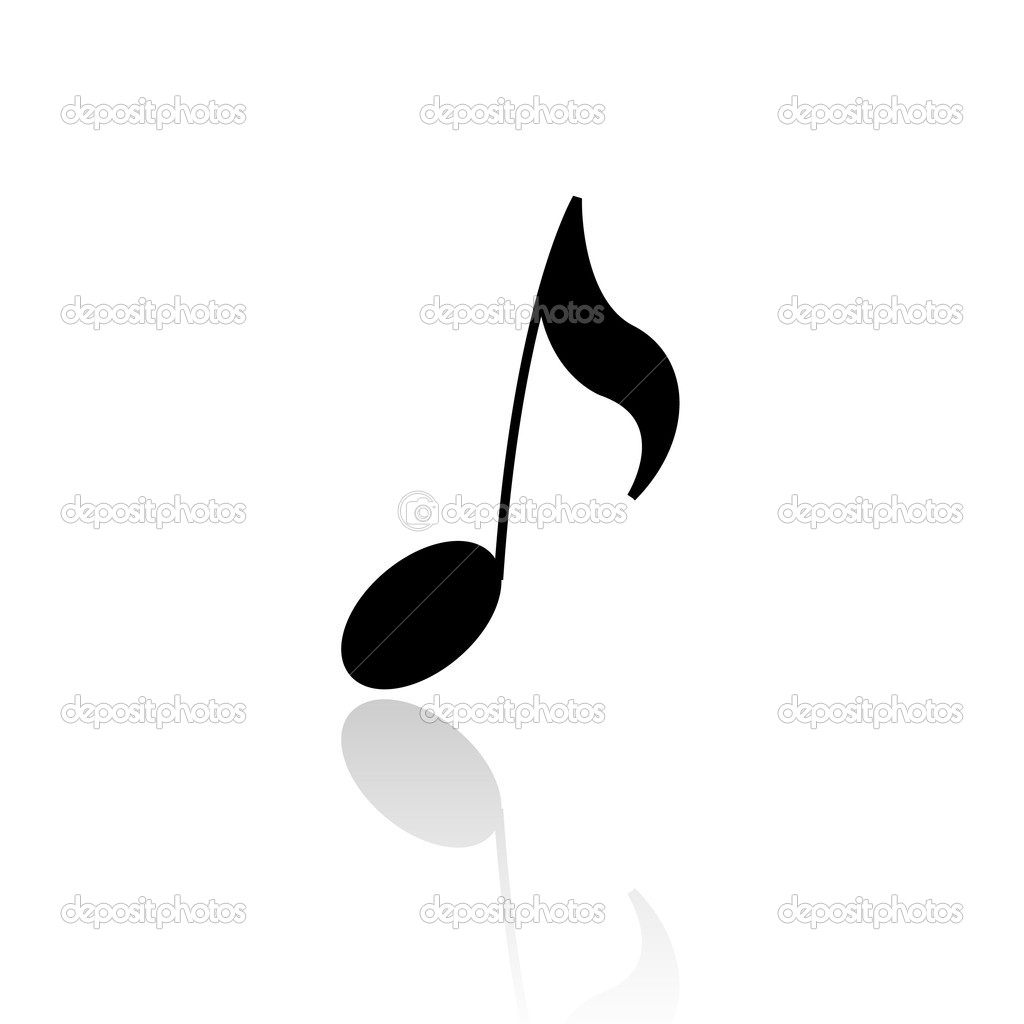 Single Music Notes Symbols Depositphotos 3882676 Black Musical Note