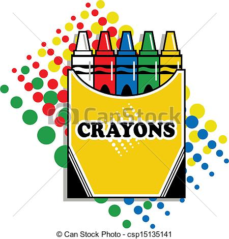 Vector   Box Of Crayons   Stock Illustration Royalty Free