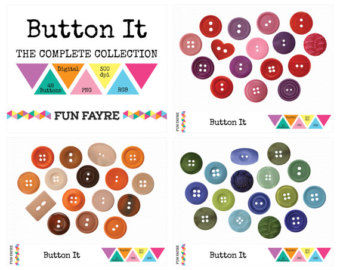 48 Buttons Digital Clip Art  Button It    Purple Pink Red