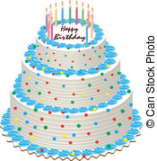 Birthday Cakes Clipart Vector And Illustration  19181 Birthday Cakes