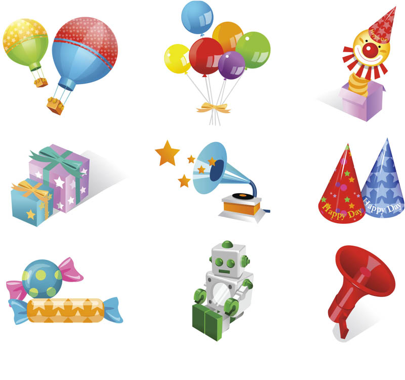 Clip Art Birthday Theme Clipart - Clipart Kid