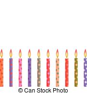 Cakes Birthday Candles Vector Clipart And Illustrations