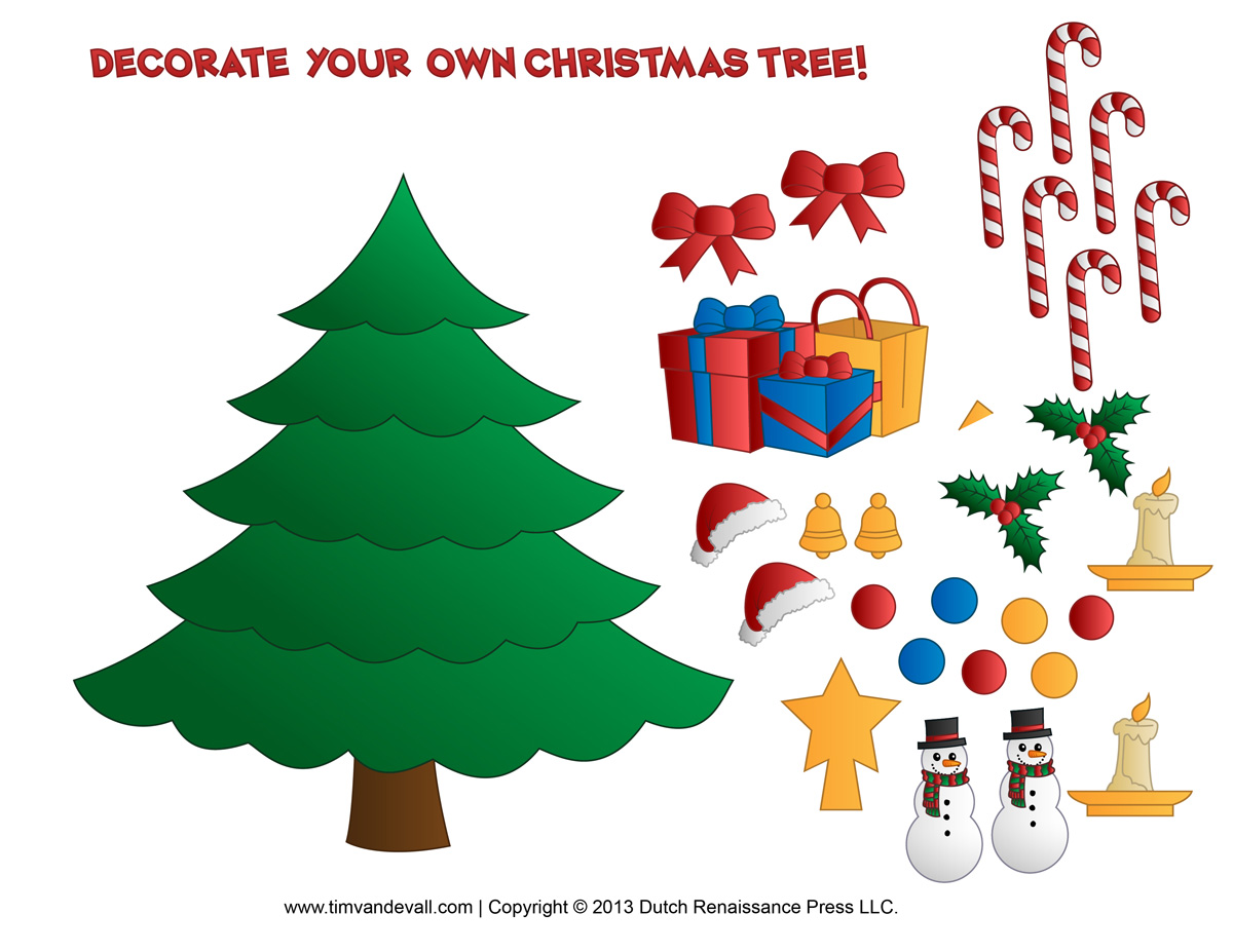 Printable christmas tree clipart suggest