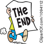 The End Clipart Clipart Man Carrying A The End Sign Royalty Free Vector Illustration
