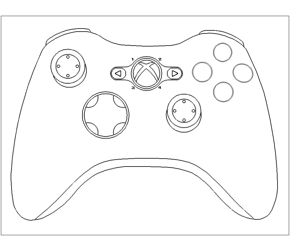 Playstation 4 Controller Coloring Pages